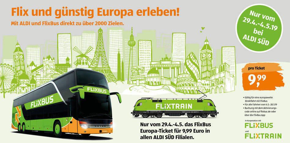 Aldi Nord Süd Karte.Aldi Bietet Flixbus Tickets Für 9 99 Euro W V