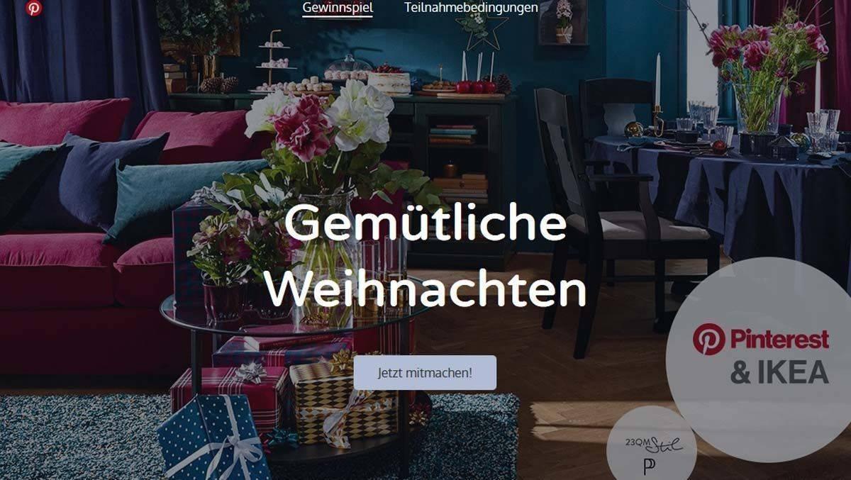 Ikea Weihnachten.Ikea Lässt Weihnachtswohnzimmer Bei Pinterest Planen W V